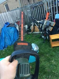 Electric hedge trimmer 15$
