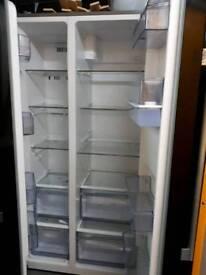Bush black fridge freezer