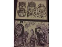 Tattoo flash design sheets