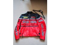 Hein Gericke leather motorcycle jacket size XL