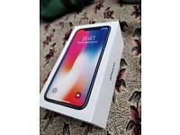 *NEW Apple iPhone X silver 64gb, UNLOCKED WARRANTY MAY 2019