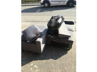 FREE GOOD CORNER SOFA! Comes with pillows in bags!
