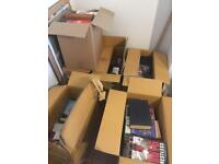 SIX BOXES OF VARIOUS BOOKS