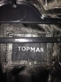 Men's topman leather jacket small