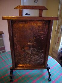 Antique Copper fire screen