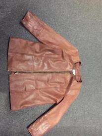 Ladies leather jacket by Elvi.