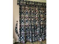 70's curtains floral free