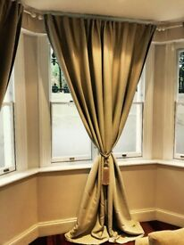Beautiful light grey curtains - Priced to Move!