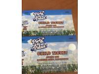 2 Child's Party in the Palace Tickets for Sunday 12th August