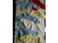 Hand Knitted Baby / Child Cardigan and Jumper Bundle