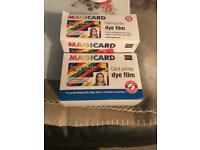 Card printer dye film