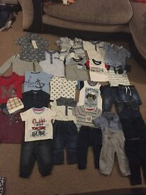 Baby boy clothes aged 3-6 months, t shirts mostly all bran new and some items still with tags on