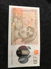 New uncirculated £10 notes
