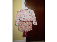 FLOWERED TOP/ SHORTS AND TIGHTS 1 1/2 - 2 YEARS