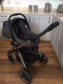 Bebecar Ip Op travel system - charcoal grey
