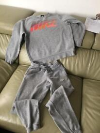 Nike grey tracksuit - some marks