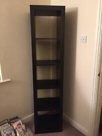 IKEA tall dark wood shelving unit