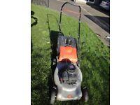 Flymo petrol lawnmower with Briggs&Stratton engine