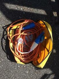 Power lead / cable for caravan or trailer etc