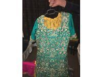 Beautifull green mendhi dress