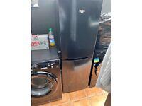 Black bush fridge freezer immaculate except a slight scratch on the door
