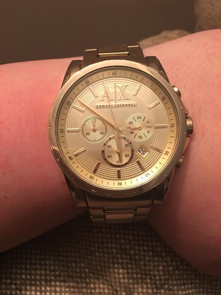 Gold Armani exchange watch