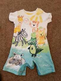 George safari all in one baby outfit. 3-6 months.