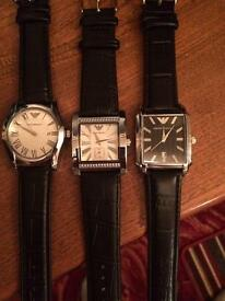 3 X Armani watches