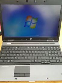 "HP EliteBook 8540w PC Notebook 15.6"" 4gb Ram, 250gb Hd Drv. NVIDIA"