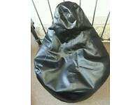 Black large beanbag chill gaming chair