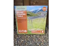 New in box folding camping table