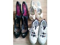 Job lot of women's used shoes and trainers size 6