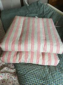 Pair of Striped seat cushions