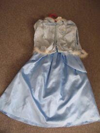Disney Princess Cinderella Dress and Matching Cape age 7-8