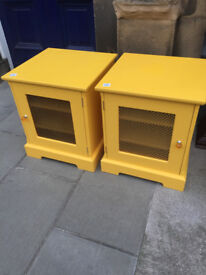 Modern Yellow Bedsides - Good Solid Quality . Size W 20in D 20in H 23in. £60 each or £100 for pair