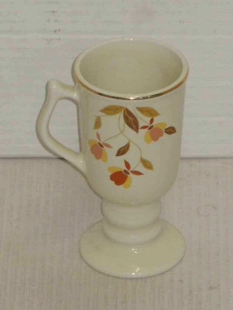 VINTAGE HALL JEWEL TEA AUTUMN LEAF IRISH COFFEE CUP MUG VERY NICE CONDITION  - $39.99