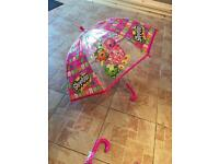 *SHOPKINS* umbrellas x2 brand new in packaging.