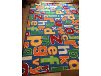 Large Alphabet Rug in excellent condition