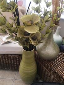 Large green vase next