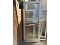 **ALUMINIUM DOOR**WITH FRAME AND KEYS**VERY GOOD CONDITION**BARGAIN**NO OFFERS**
