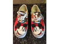 Rare Mens vans Mickey Mouse Disney