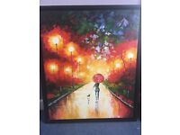 2x lovely oil Paintings from Hong Kong x2