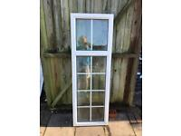 2 white fixed Upvc windows