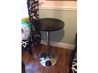 Lovely black & chrome Bristol table