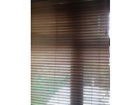 Wooden window blinds x2