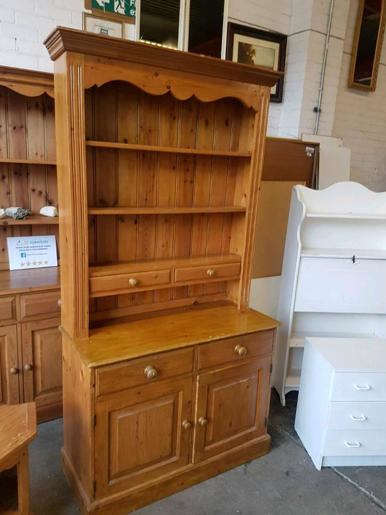 Pine two drawer dresser