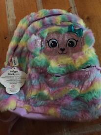 Smiggle fluffy swirl junior backpack. (NEW)