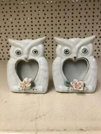 2 owl picture frame