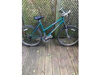 Ladies maintain bike