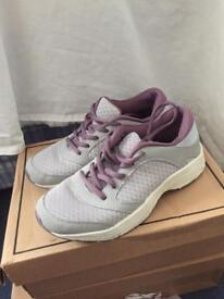Grey and purple sport shoes